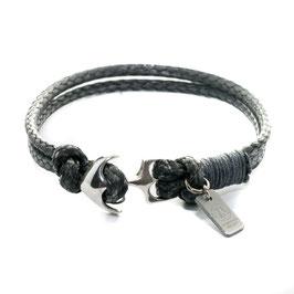 Ankerarmband Silber | Grau - handgefertigt von LeChatVIVI