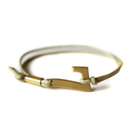 Glücksarmband - Charity Armband in kahki #