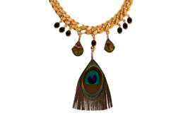 Blue Peacock Collier in Schwarz/ Gold by LeChatVIVI BERLIN®