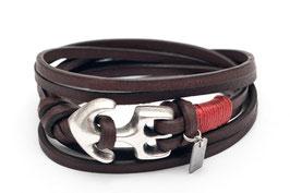 Leder Seemannsgarn Rot Anker Armband - Hergestellt von LeChatVIVI Berlin
