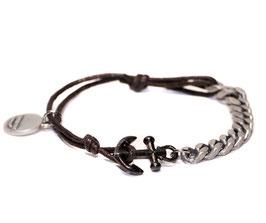 Ankerhaken N°1 Armband braun by LeChatVIVI BERLIN