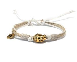 Buddha Armband  OMMM Weiß Gold by LeChatVIVI BERLIN®