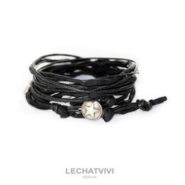 ★ Wickelarmband mit Stern in Schwarz