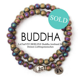 Buddha Pearls Rainbow Armband N°1 Hämatit by LeChatVIVI BERLIN