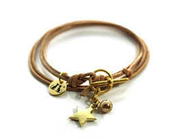 Damen Armband Mon Petit N°3 Beige Gold von LeChatVIVI BERLIN®