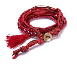 Mme Orient N°7 Wickelarmband in kirschrot by LeChatVIVI BERLIN®