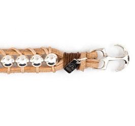 Takling® 9MM Ankerarmband N°1 Naturleder Silber von LeChatVIVI BERLIN