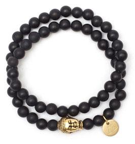 Buddha Pearls Black Armband N°2 matt Onyx by LeChatVIVI BERLIN