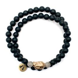 Handgefertigtes Buddha Armband Onyx Labadorit von LeChatVIVI BERLIN