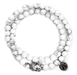 Buddha Armband white N°1 Howlith by LeChatVIVI BERLIN