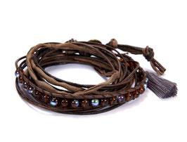 Mme Orient N°2 Wickelarmband in braun by LeChatVIVI BERLIN®