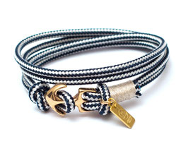 Ankerarmband Blau mit Messsinganker - handcrafted LeChatVIVI BERLIN®