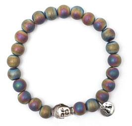 Buddha Pearls Rainbow Armband N°3 Hämatit by LeChatVIVI BERLIN (silber)