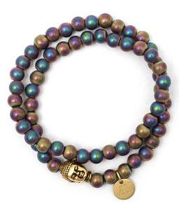 Buddha Pearls Rainbow Armband N°2 Hämatit by LeChatVIVI BERLIN