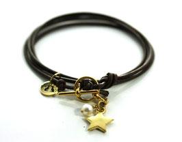 Mon Petit N°3 Braun Gold von LeChatVIVI BERLIN® | Freundschafts-Armband