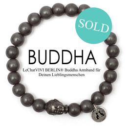 Buddha Pearls Grey Armband N°3 matt Hämatit by LeChatVIVI BERLIN