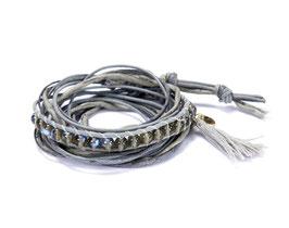 Mme Orient N°9 Wickelarmband in grau by LeChatVIVI BERLIN®