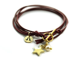 Damen Armband Mon Petit N°3 Rot Gold von LeChatVIVI BERLIN®