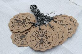 Kraftpapieranhänger ♥  Good Luck