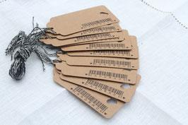 Kraftpapieranhänger ♥ Handmade