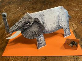 """3 D Karte """"Elefant"""""""