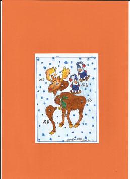 Weihnachtshampelelch, Minimagnet
