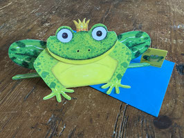 "3 D Karte "" Froschkönig"""