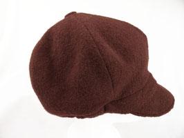 Hut und Robe Ballonmütze 100% Wolle braun