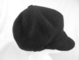 Hut und Robe Ballonmütze 100% Wolle schwarz