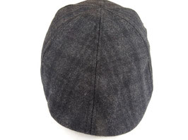 Faustmann Flatcap dunkles Karo 60% Polyester, 40% Wolle