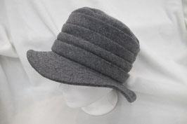 Hut & Robe grauer Hut 80% Wolle, 15% Polyamid, 5% Kaschmir