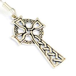 Pera Paar Ohrringe Bronze versilbert keltisches Kreuz