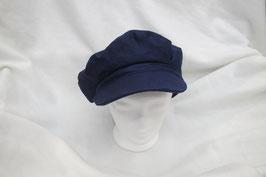 """Hut und Robe  reines Leinen, Cap im  """"Baker"""" Style . Marineblau"""