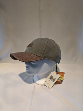 Stetson Baseball Cap, one size verstellbar, aus reiner Baumwolle mit Lederschild.