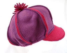 Hut und Robe Ballonmütze pink-brombeer Fleece 100% Polyester