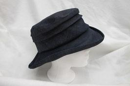 Hut und Robe Hut aus reinem Leinen Blau