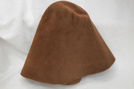 Velourstumpe Zimtfarben Hut und Robe Haar