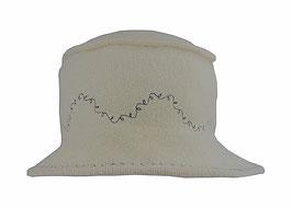 Hut und Robe Cloche naturweiß, reine Wolle