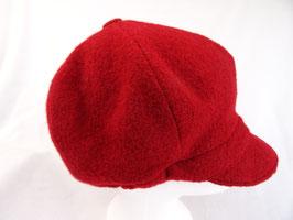 Hut und Robe Ballonmütze 100% Wolle rot