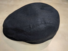 Bullani Kappe schwarz - Handgefertigt in Deutschland 100% Leinen - Futter 100% Baumwolle