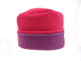 Hut und Robe Pillbox pink-brombeer Fleece 100% Polyester