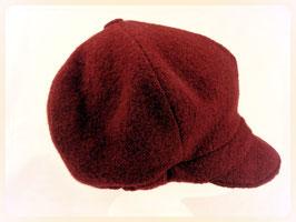 Hut und Robe Ballonmütze 100% Wolle weinrot
