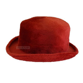 Hut und Robe Zylinder 100% Haar rot