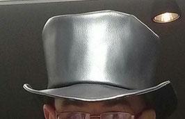 Hut und Robe Schwarzer Lederzylinder aus Kunstleder