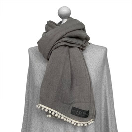 BOMMEL-SCHAL in GREY | WHITE