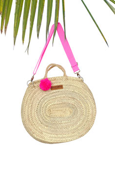 BIG OVAL BAG mit Tragegurt in PINK