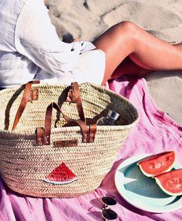 Korbtasche mit Melone