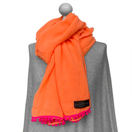BOMMEL-SCHAL in ORANGE | PINK