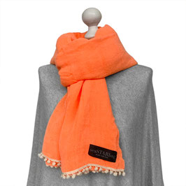 BOMMEL-SCHAL in ORANGE | WHITE