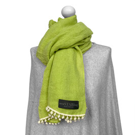 BOMMEL-SCHAL in GREEN | WHITE